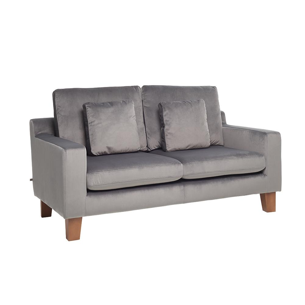 Ankara II two seater sofa alba velvet grey
