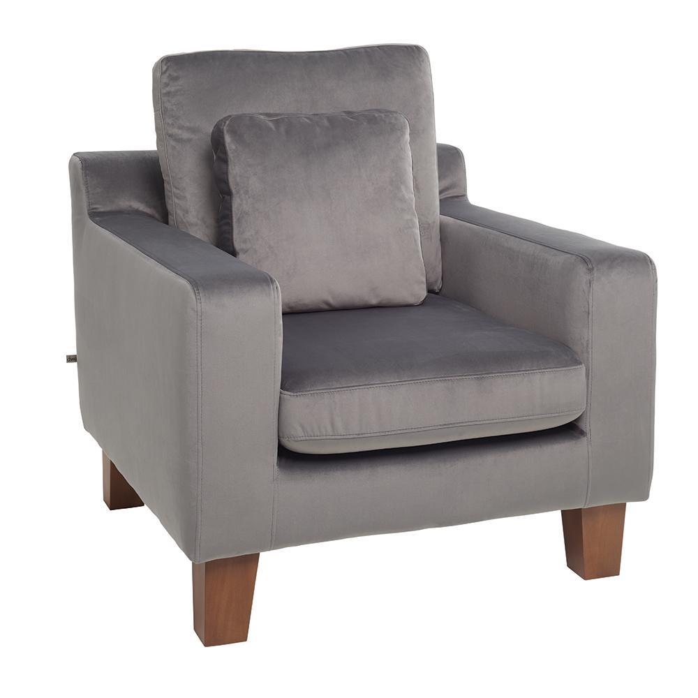 Ankara II armchair alba velvet grey