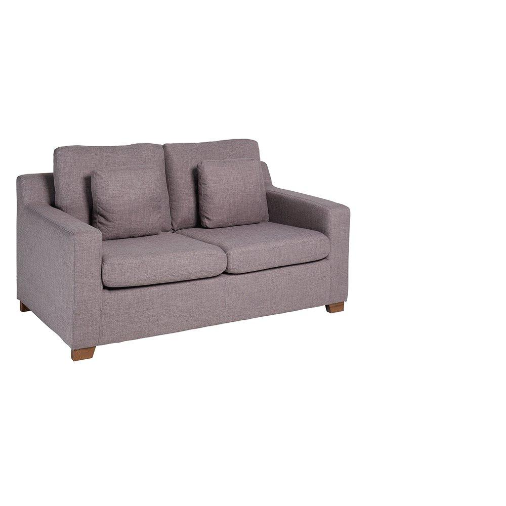 Ankara II two seater sofabed patet light grey