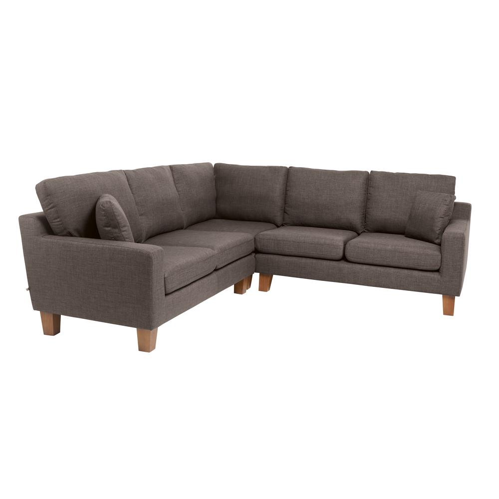 Ankara II full corner sofa patet truffle