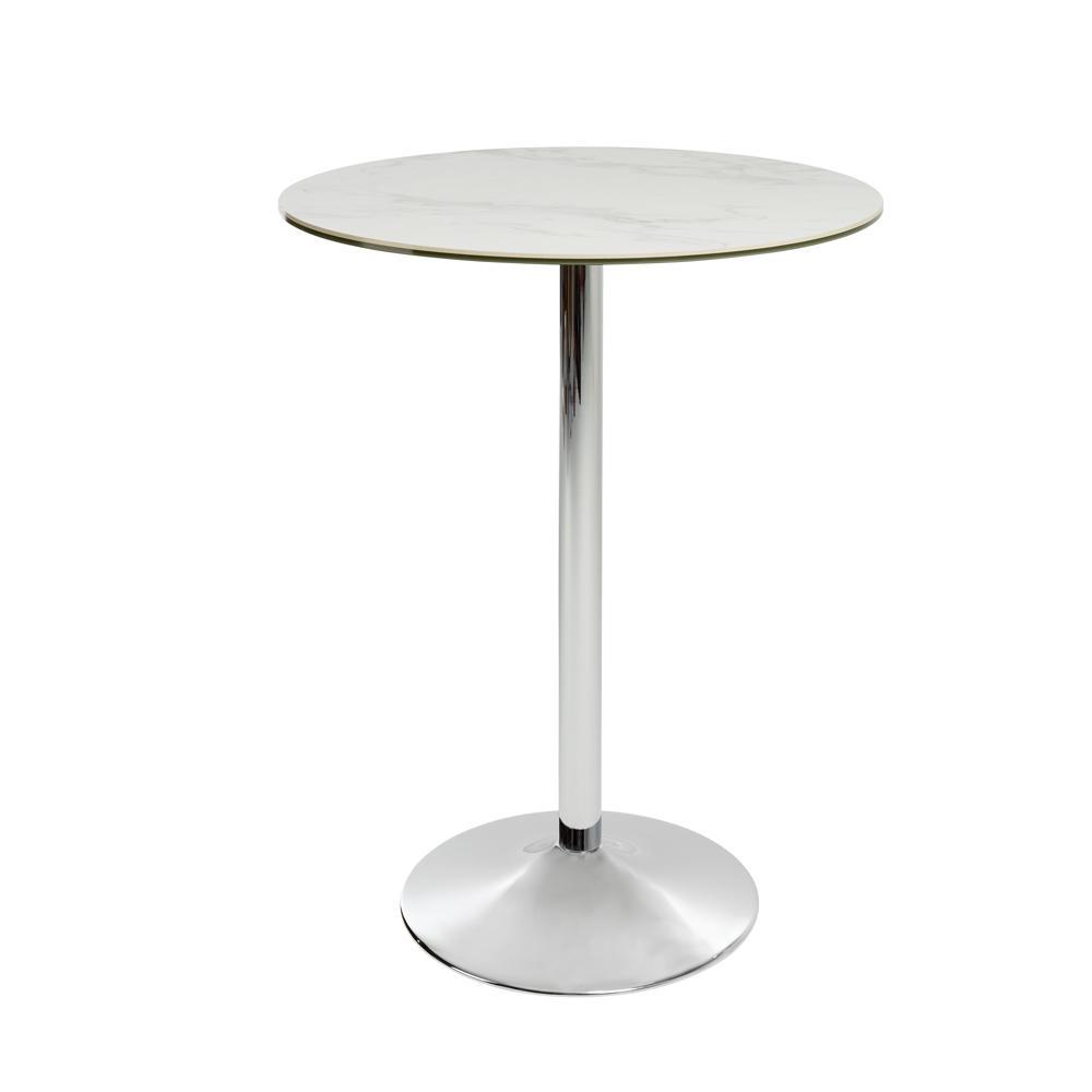 Tersus marble effect ceramic bar table