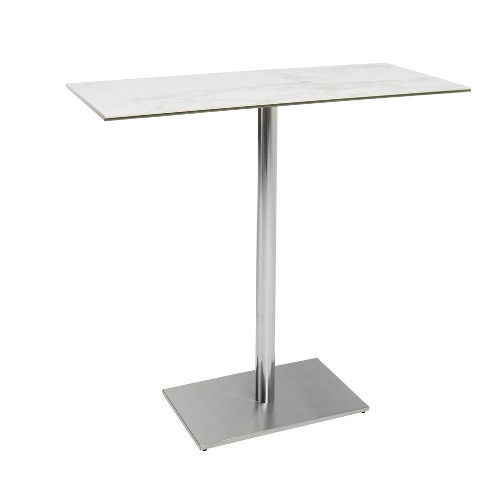 Sicily II marble effect ceramic bar table