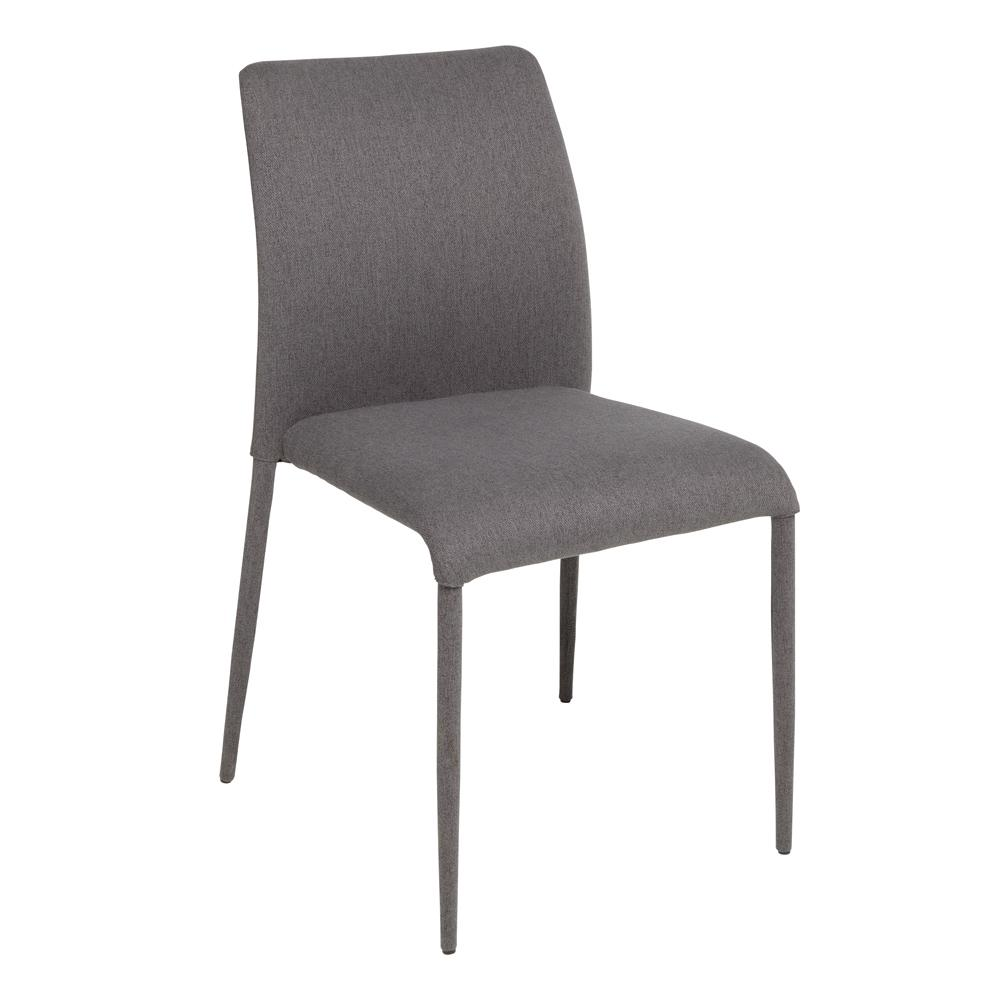 Svelte dining chair grey fabric