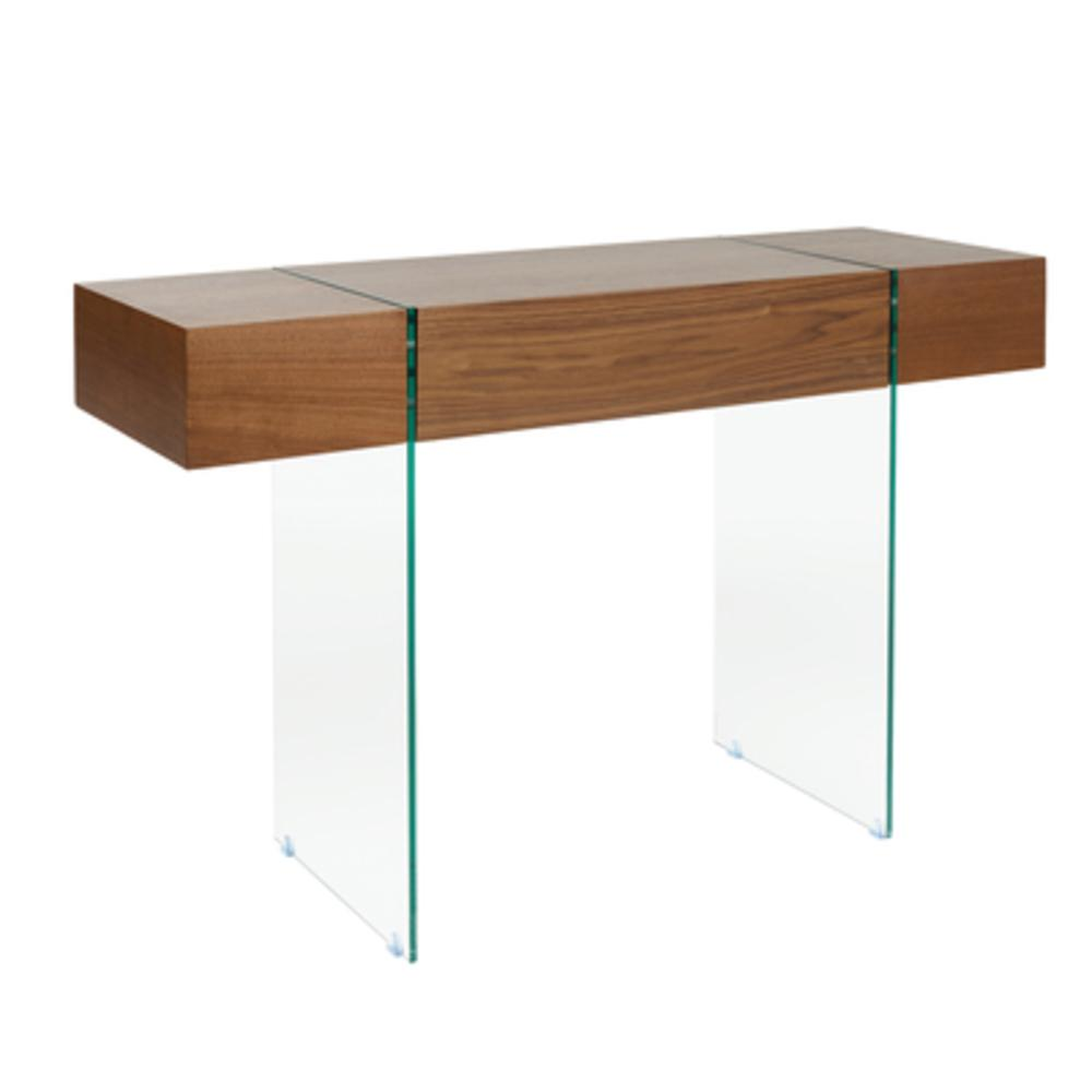 Sturado console table with drawer walnut