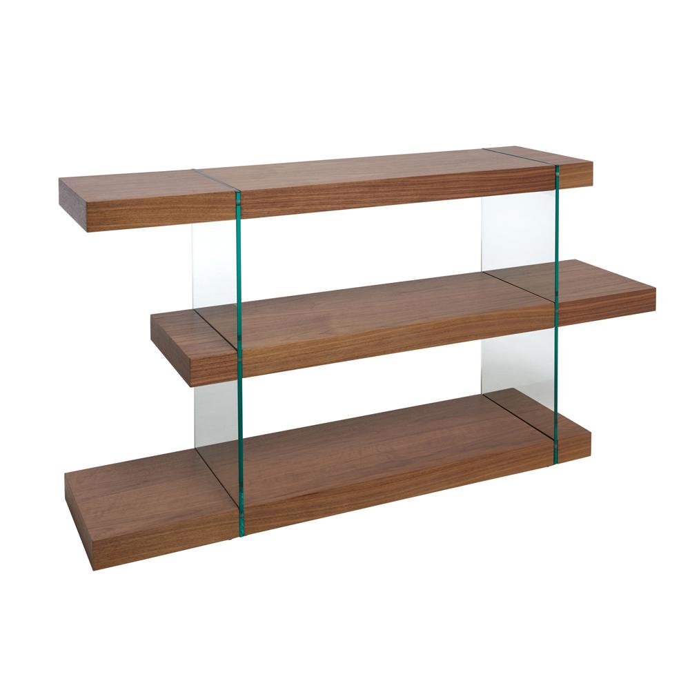 Sturado low shelving walnut