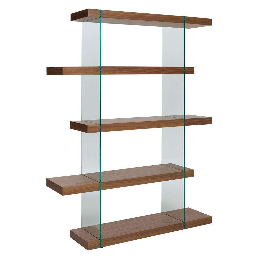 Sturado tall shelving walnut