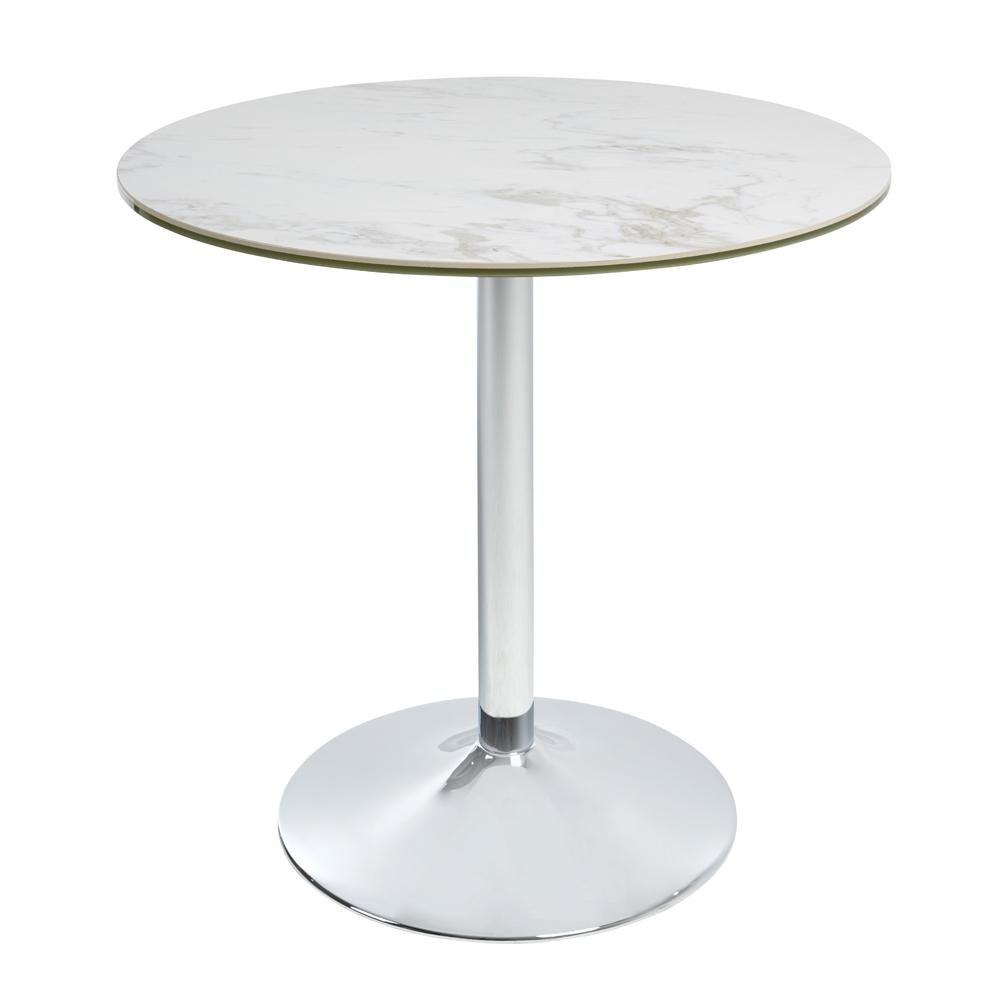 Tersus marble effect ceramic 2-3 seater dining table