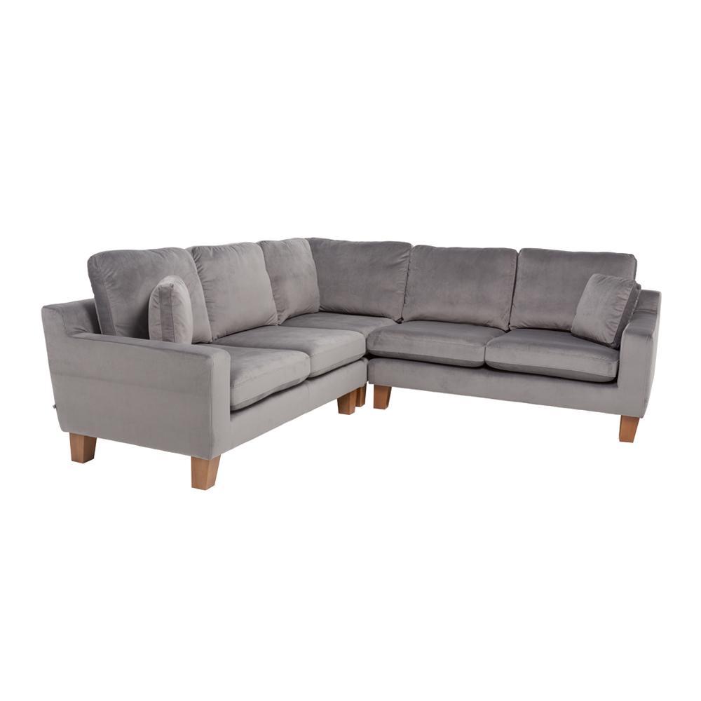 Ankara II full corner sofa alba velvet grey