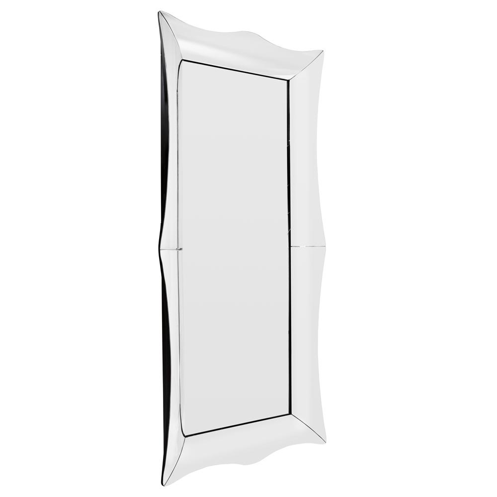 Pettine full length wall mirror silver