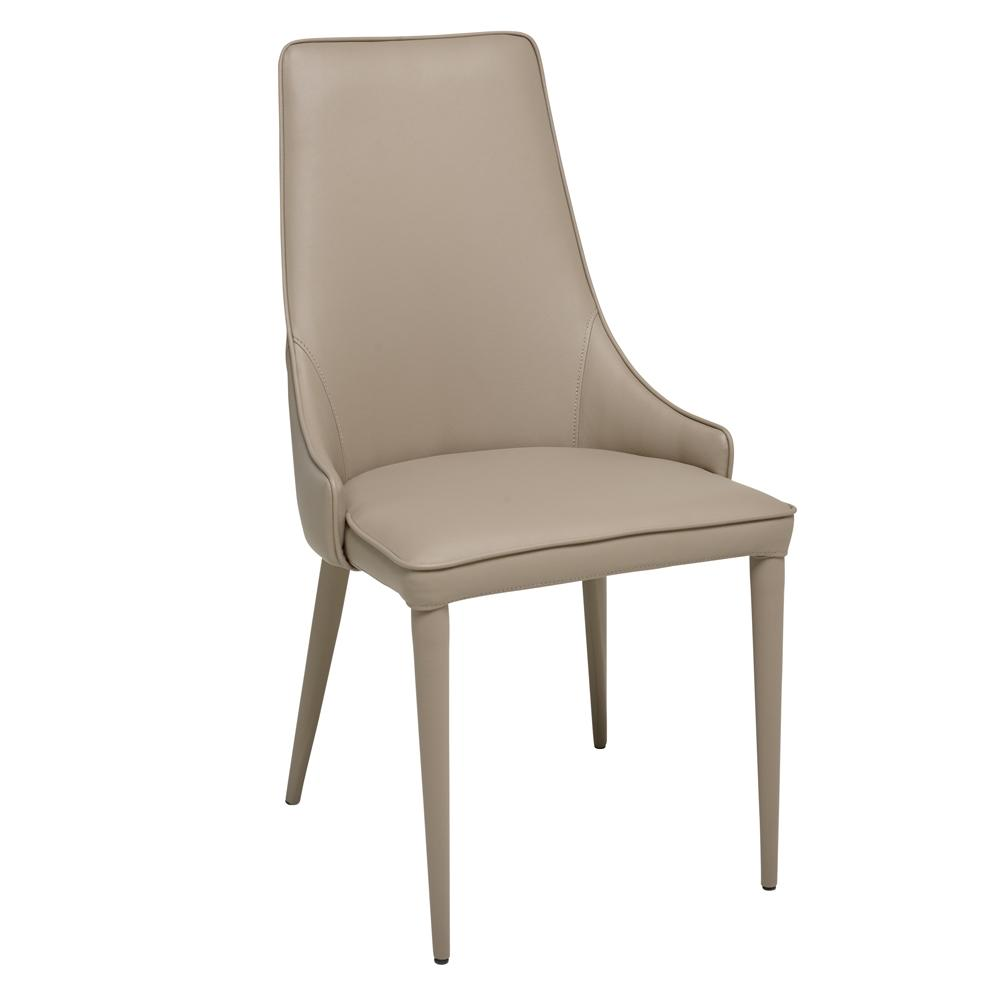 Sottile dining chair faux leather stone
