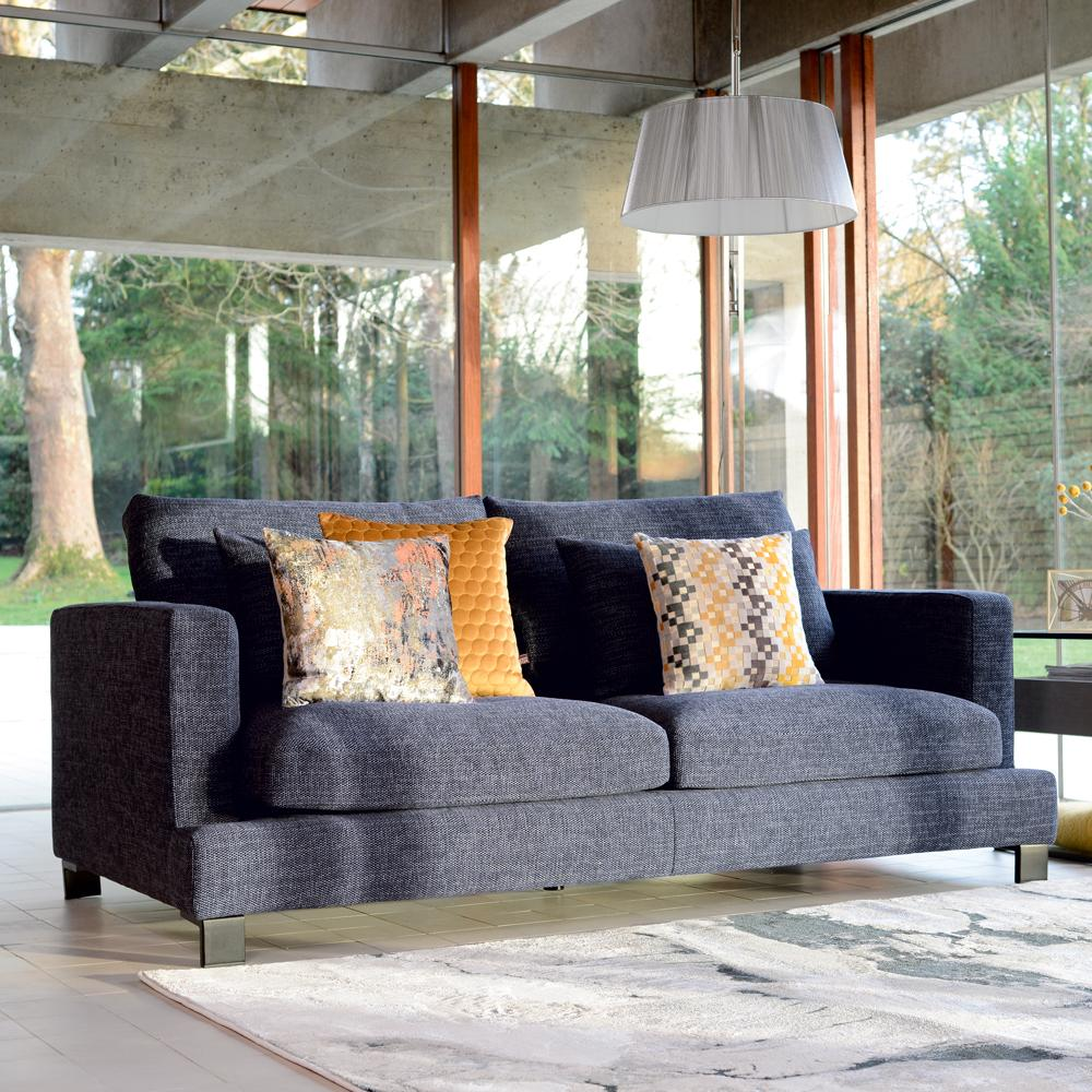 Lugano II three seater sofa callida charcoal