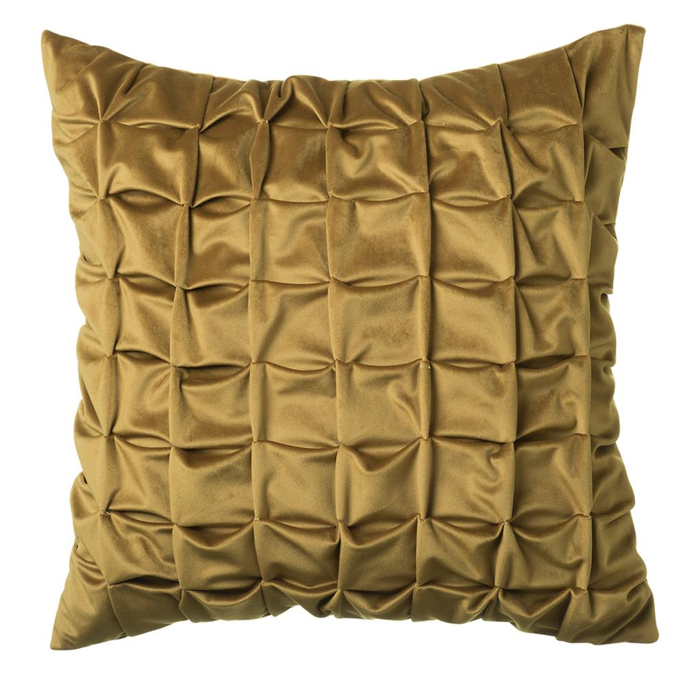 Quilted cushion mustard