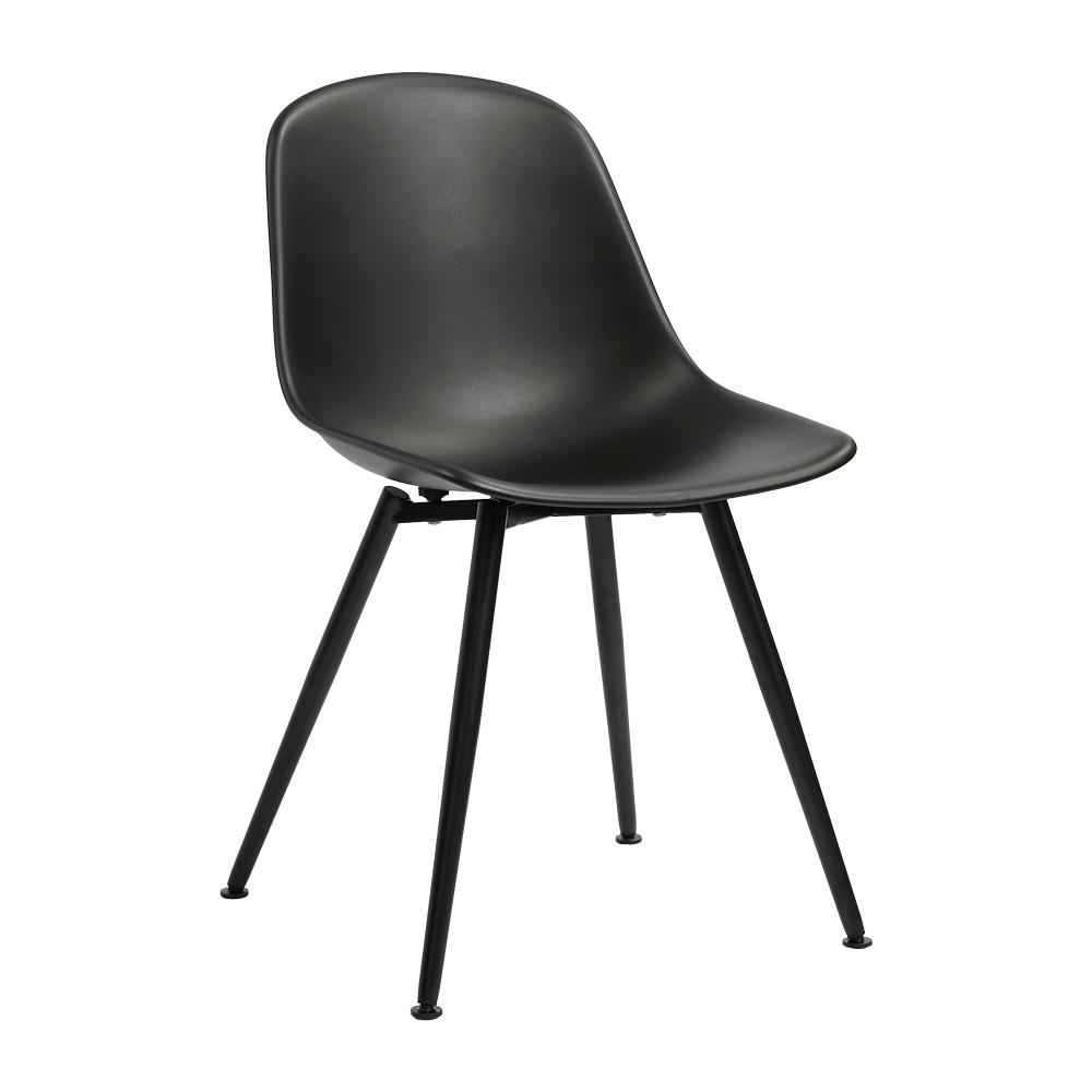 Plex dining chair black with black leg