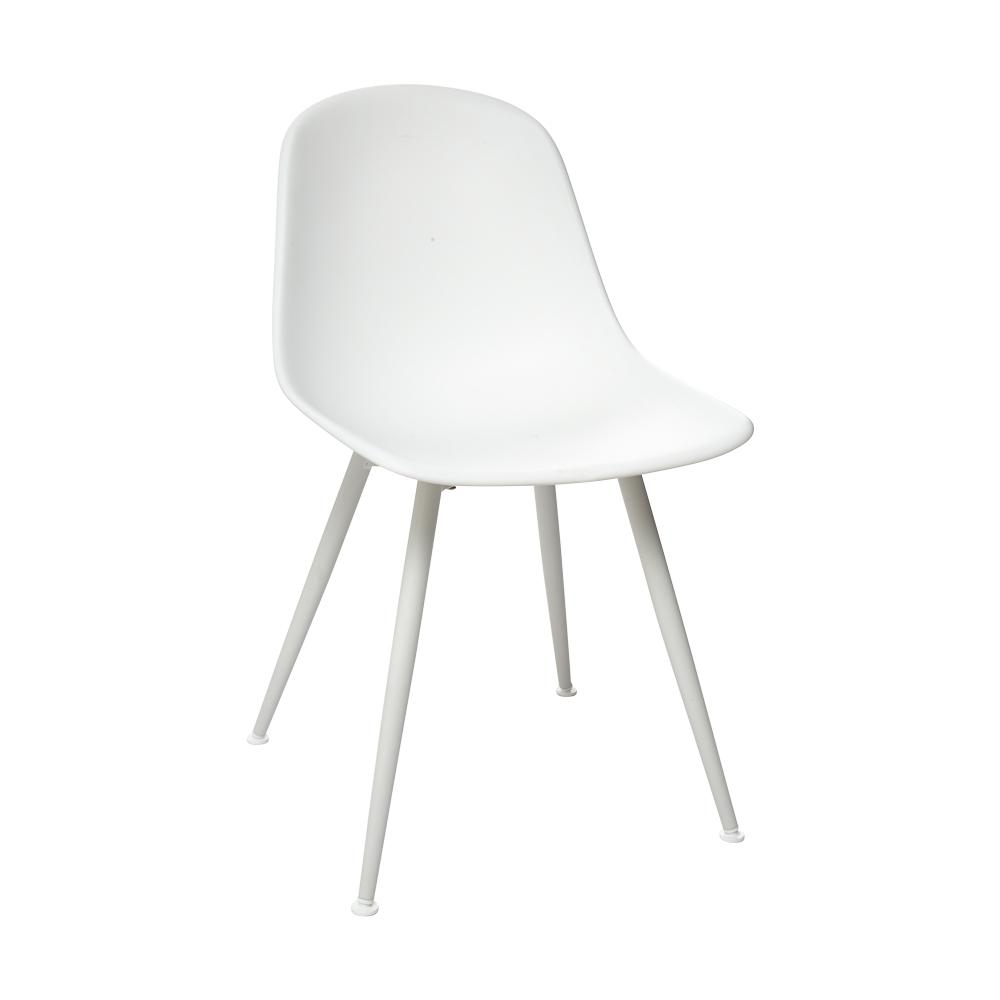 Plex dining chair white with white leg