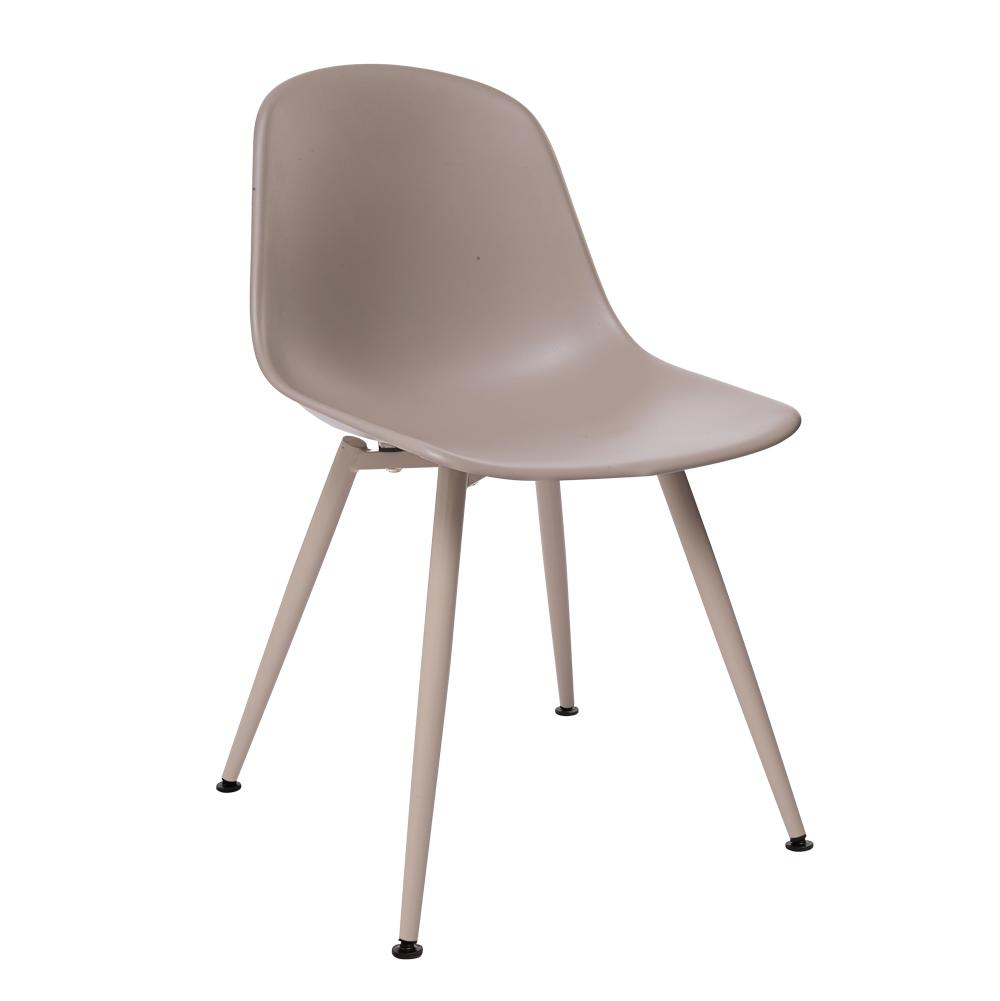 Plex dining chair stone with stone leg