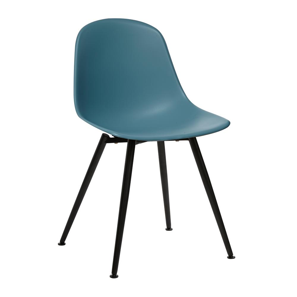 Plex dining chair teal with black leg