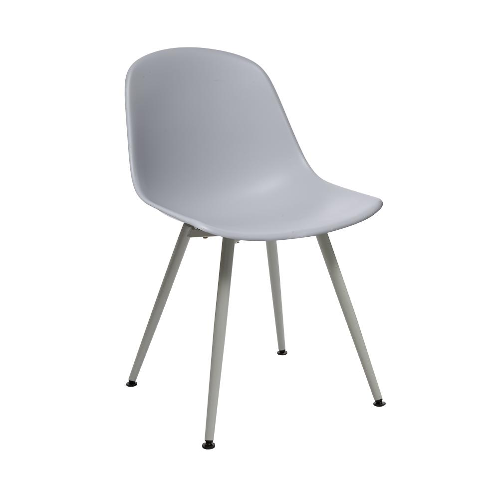 Plex dining chair light grey with light grey leg