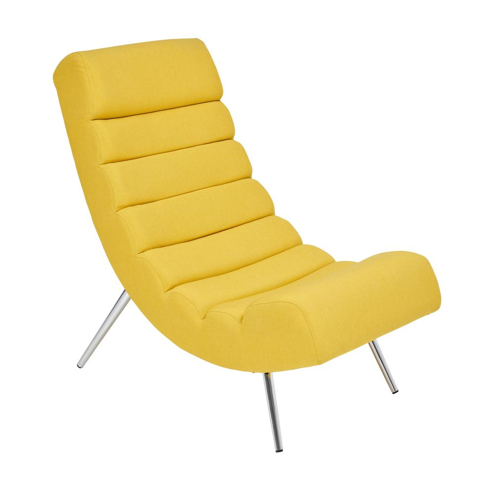 Bruco lounger mustard fabric