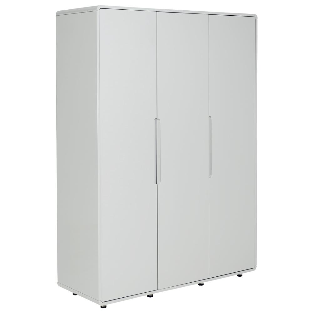 Notch II wardrobe three door light grey
