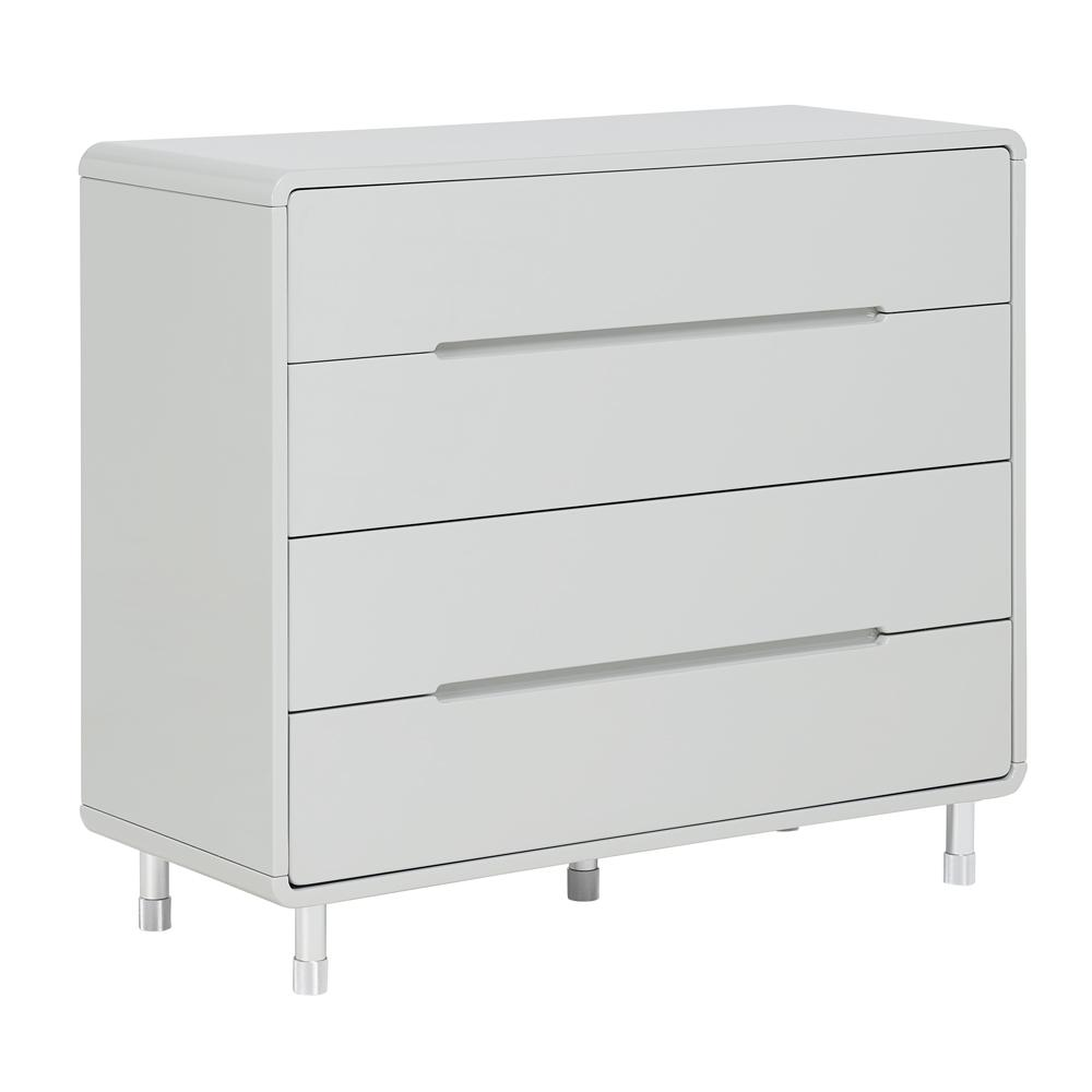 Notch II wide chest of drawers light grey