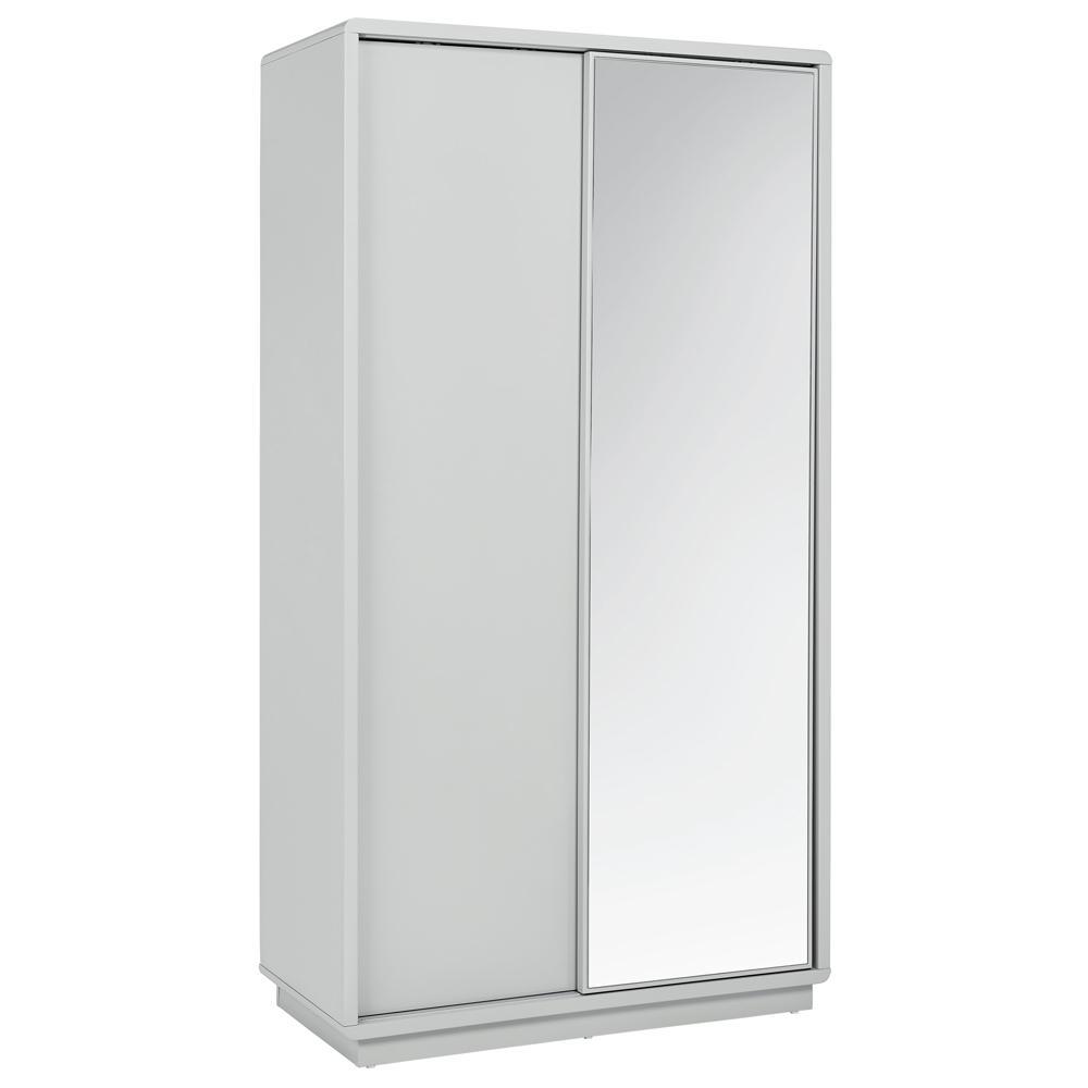 Malone II sliding mirror door wardrobe light grey