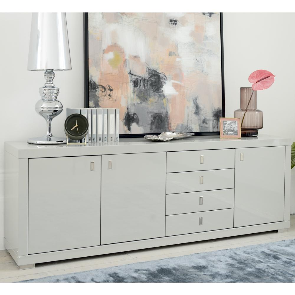 Malone II wide double door sideboard light grey