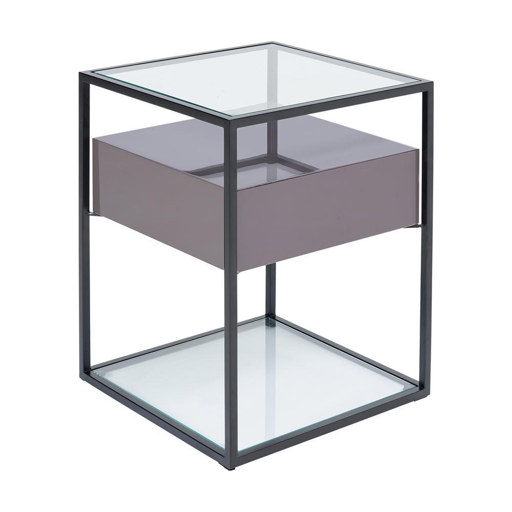 Divario side table stone gloss
