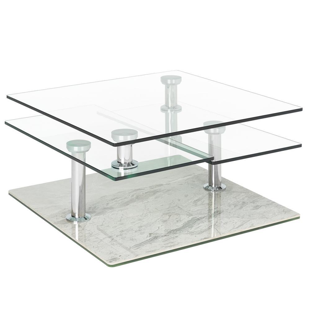 Motab coffee table light grey marble ceramic base