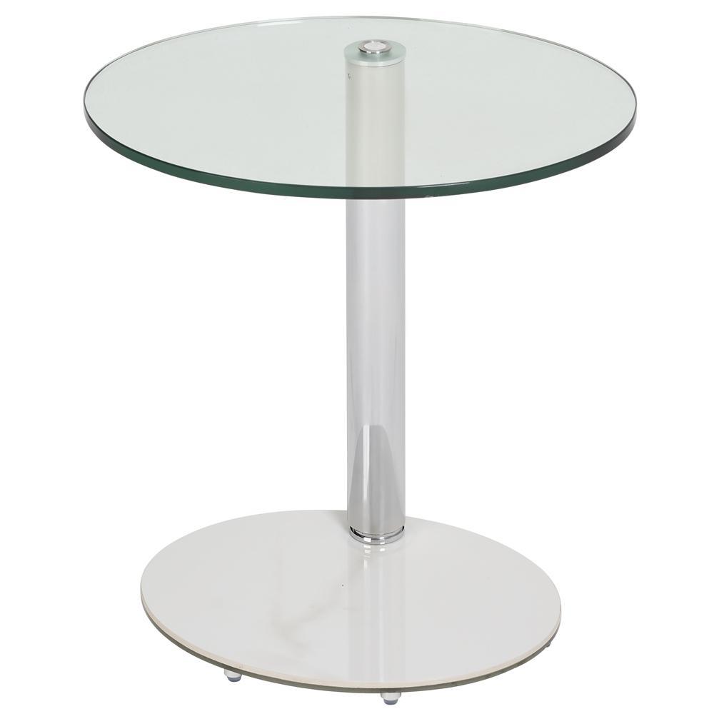 Tomasz II adjustable oval side table white marble ceramic base