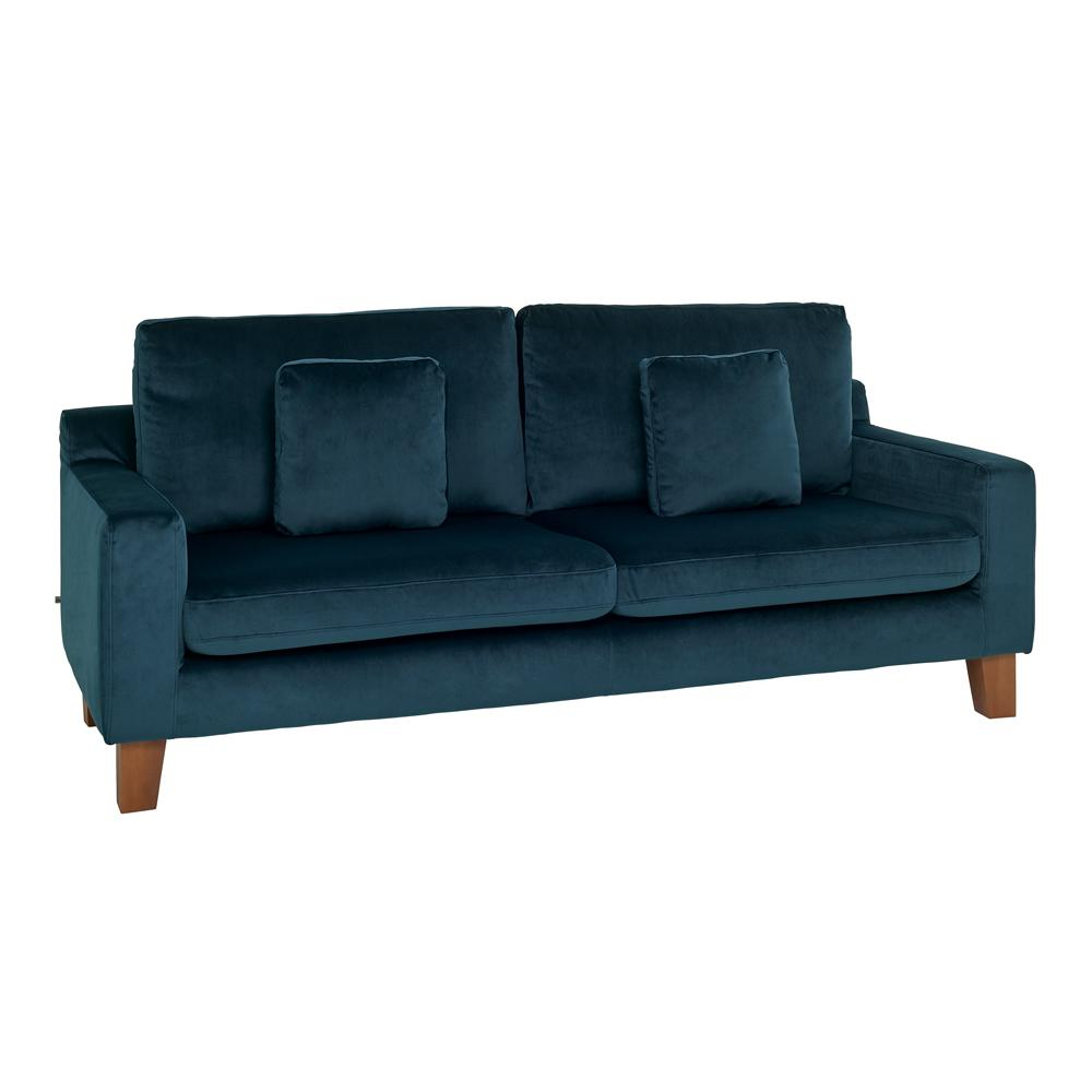 Ankara II three seater sofa alba velvet blue