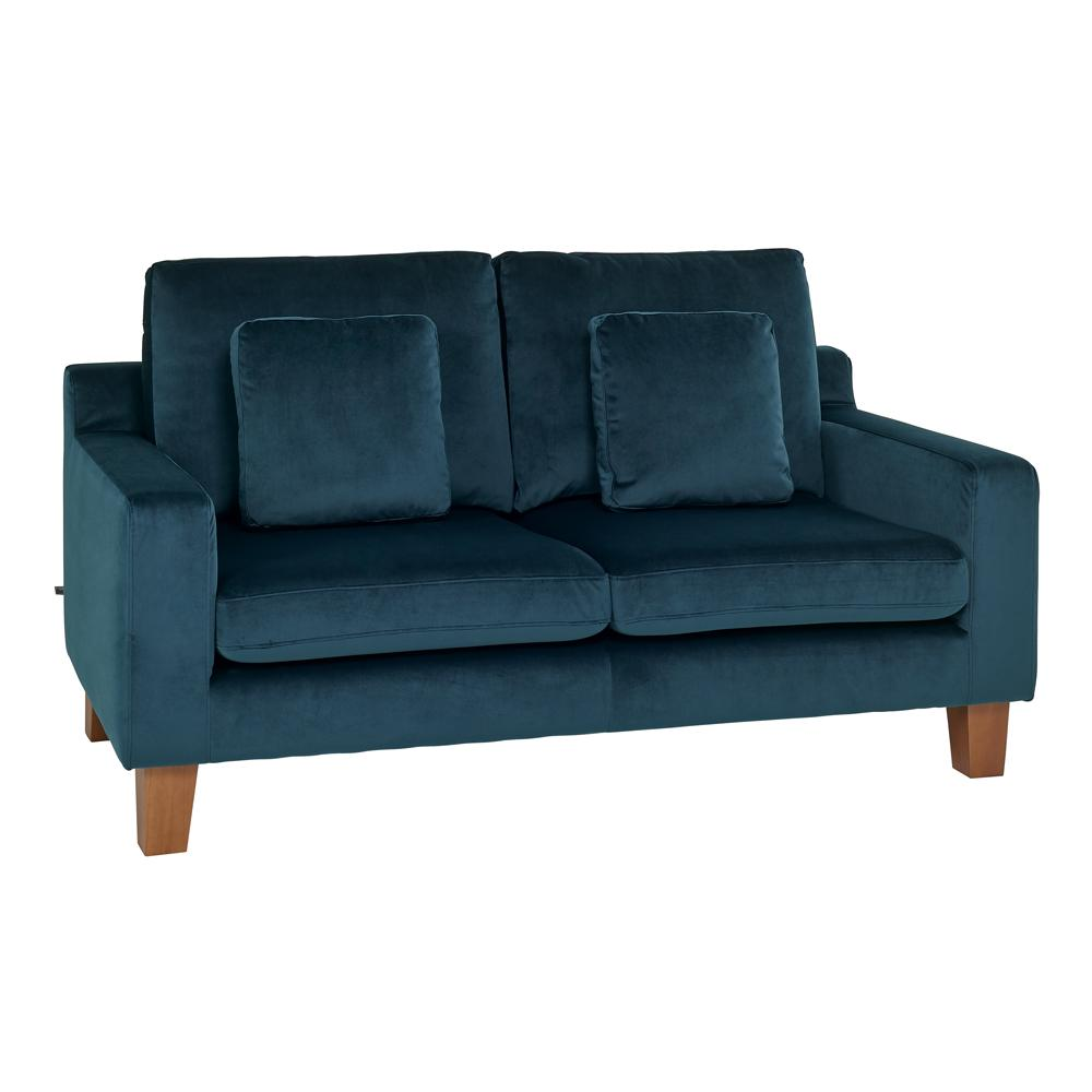 Ankara II two seater sofa alba velvet blue