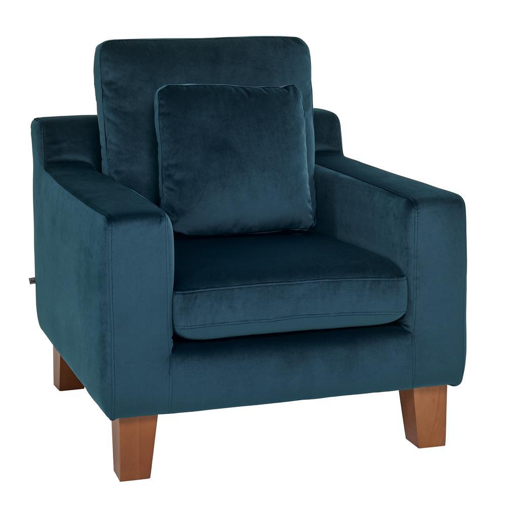 Ankara II armchair alba velvet blue