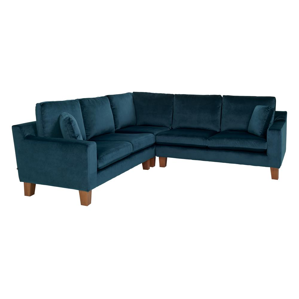 Ankara II full corner sofa alba velvet blue