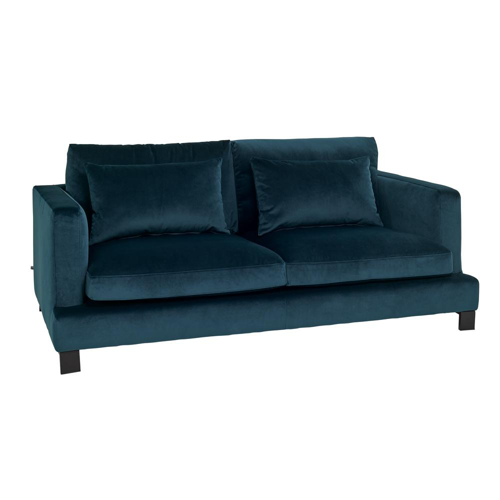 Lugano II three seater sofa alba velvet blue