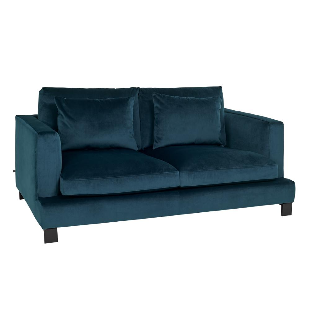 Lugano II two seater sofa alba velvet blue