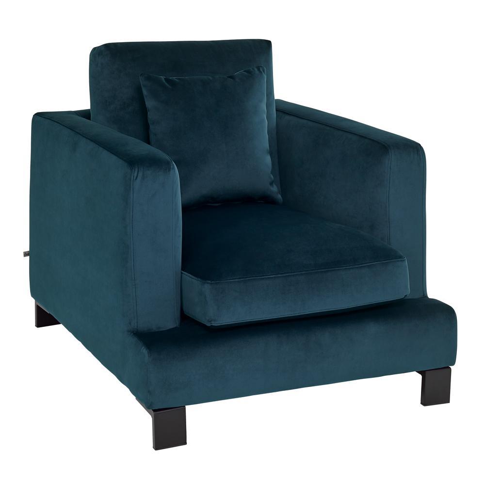 Lugano II armchair alba velvet blue
