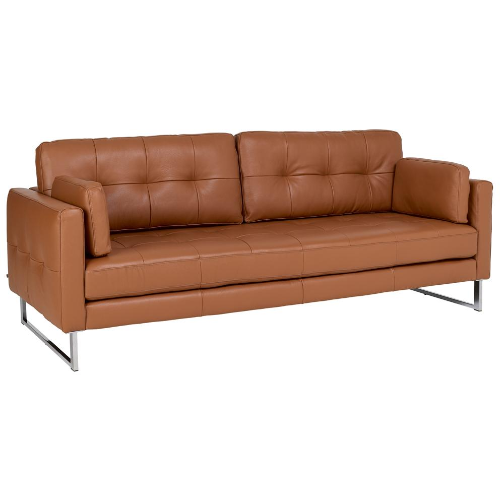 Paris II four seater sofa grano leather natural tan