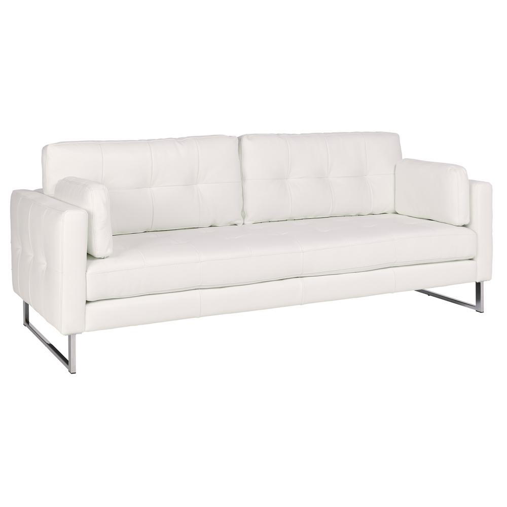 Paris II four seater sofa grano leather brilliant white