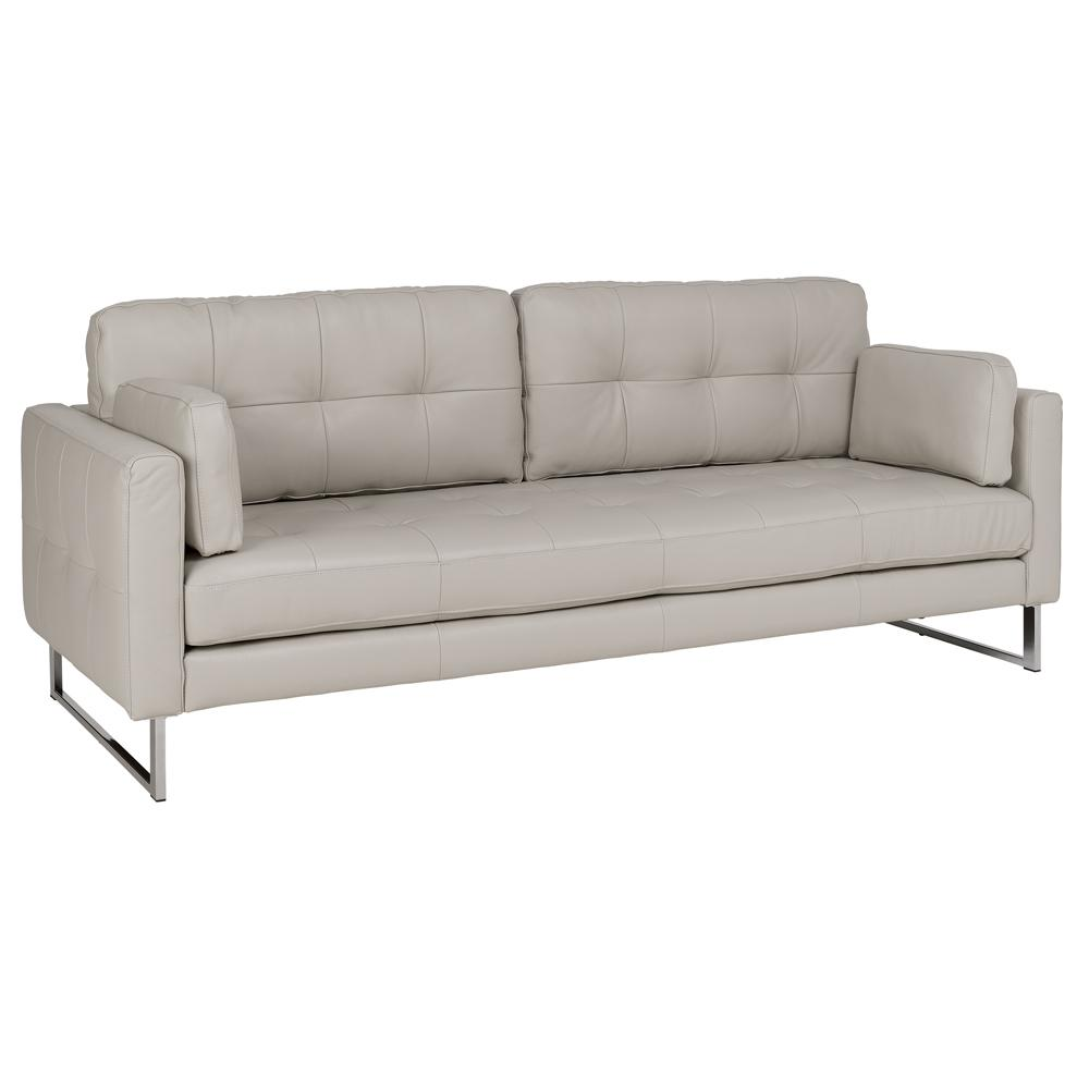 Paris II four seater sofa grano leather stone