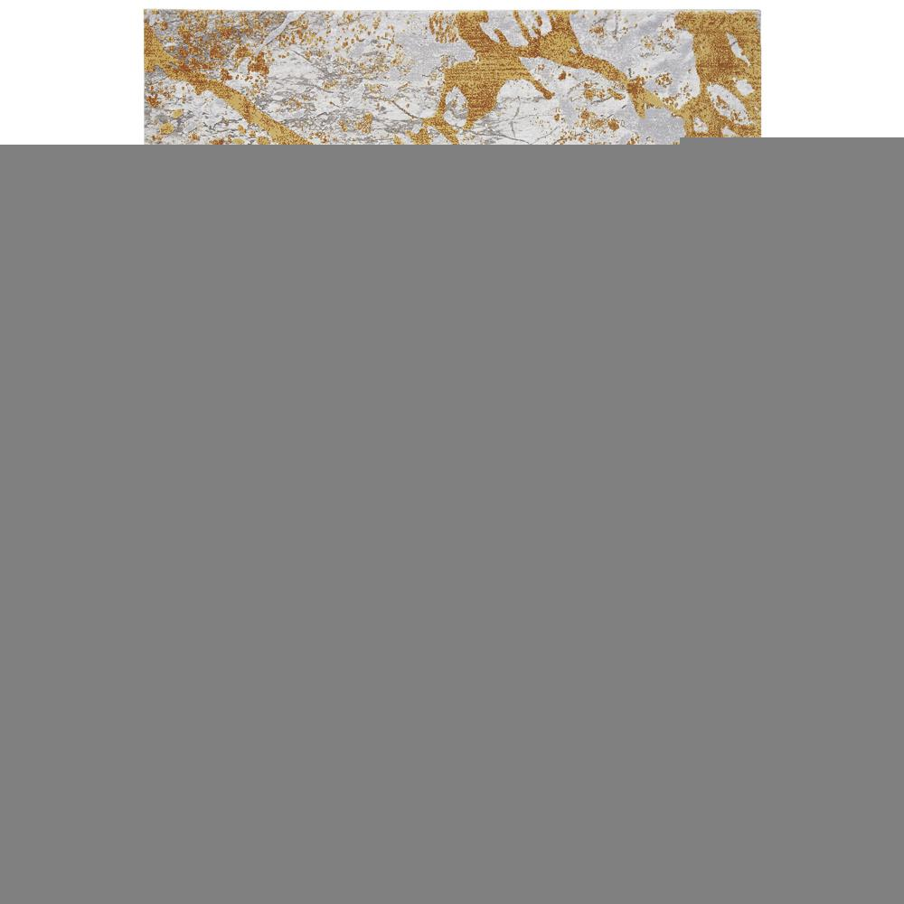 Thea marble medium rug grey and mustard