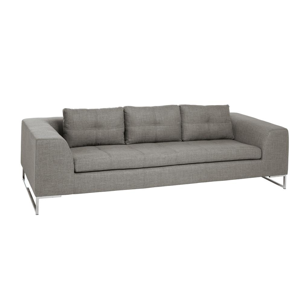 Toleda three seater sofa patet light grey