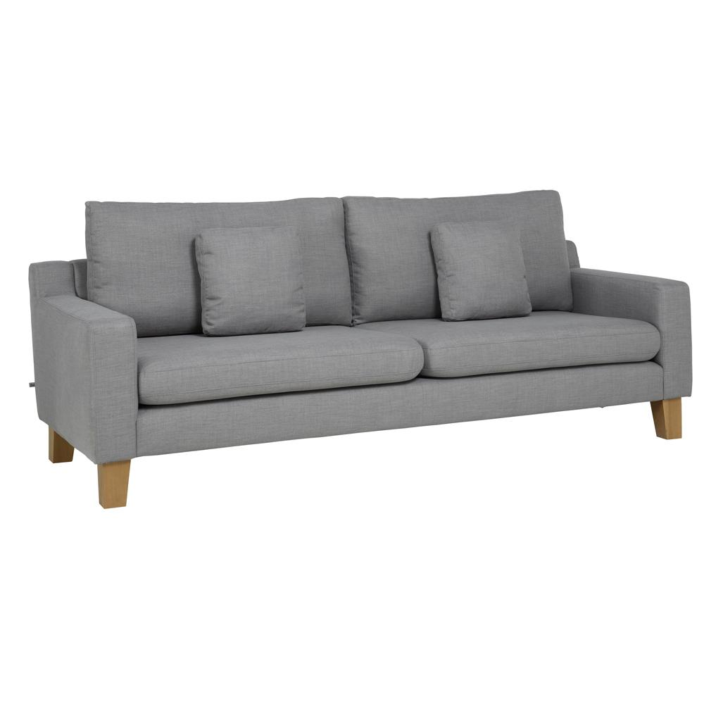 Ankara II four seater sofa patet light grey
