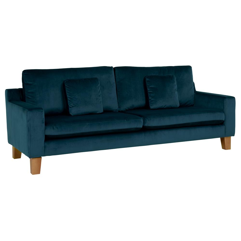 Ankara II four seater sofa alba velvet blue