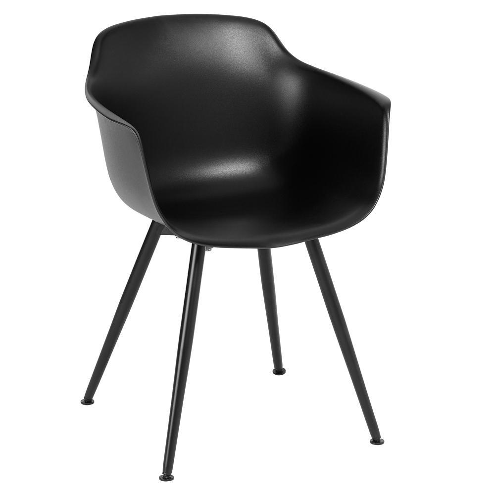 Plex dining armchair black with black leg