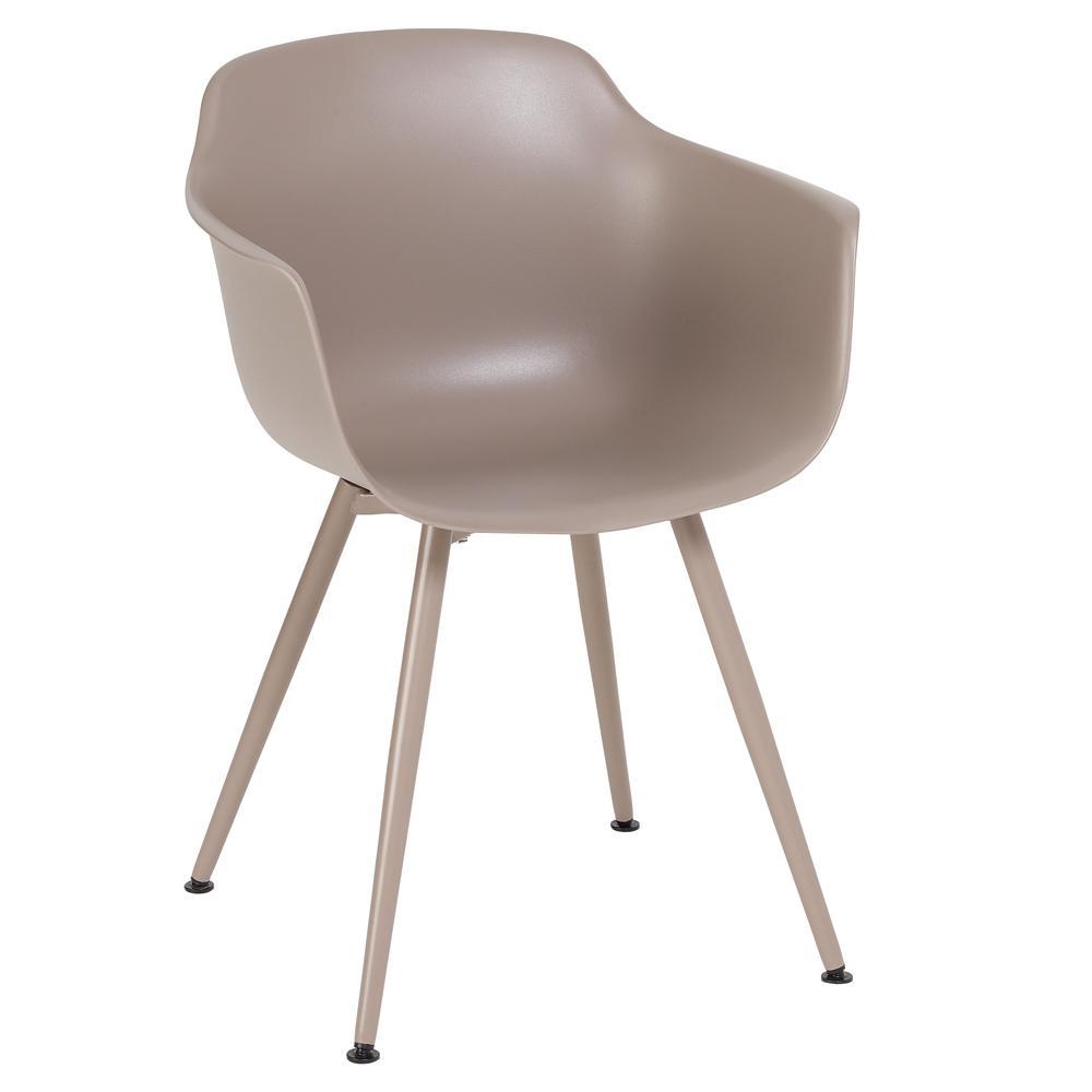 Plex dining armchair stone with stone leg