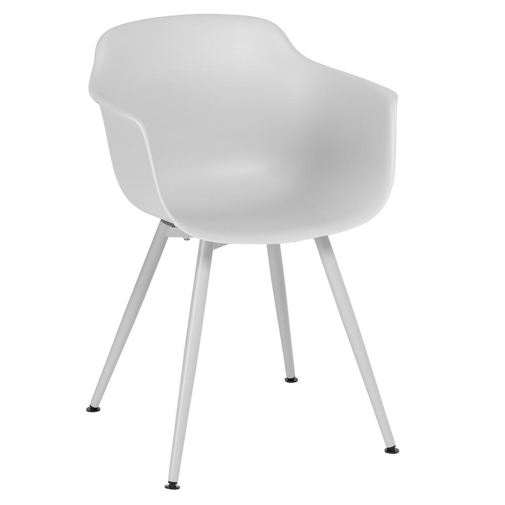 Plex dining armchair light grey with light grey leg
