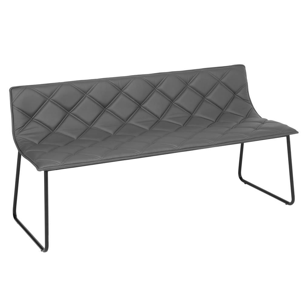 Portela bench faux leather grey