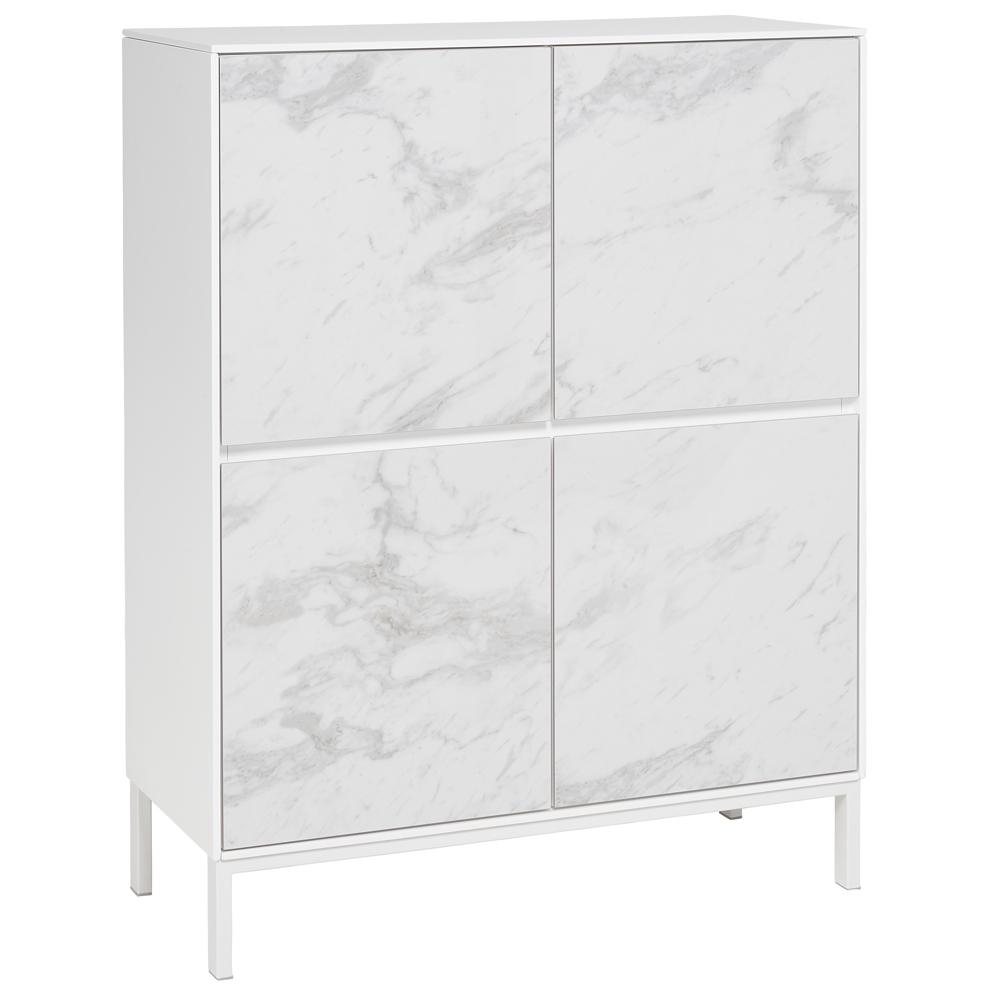 Avant cabinet white marble ceramic