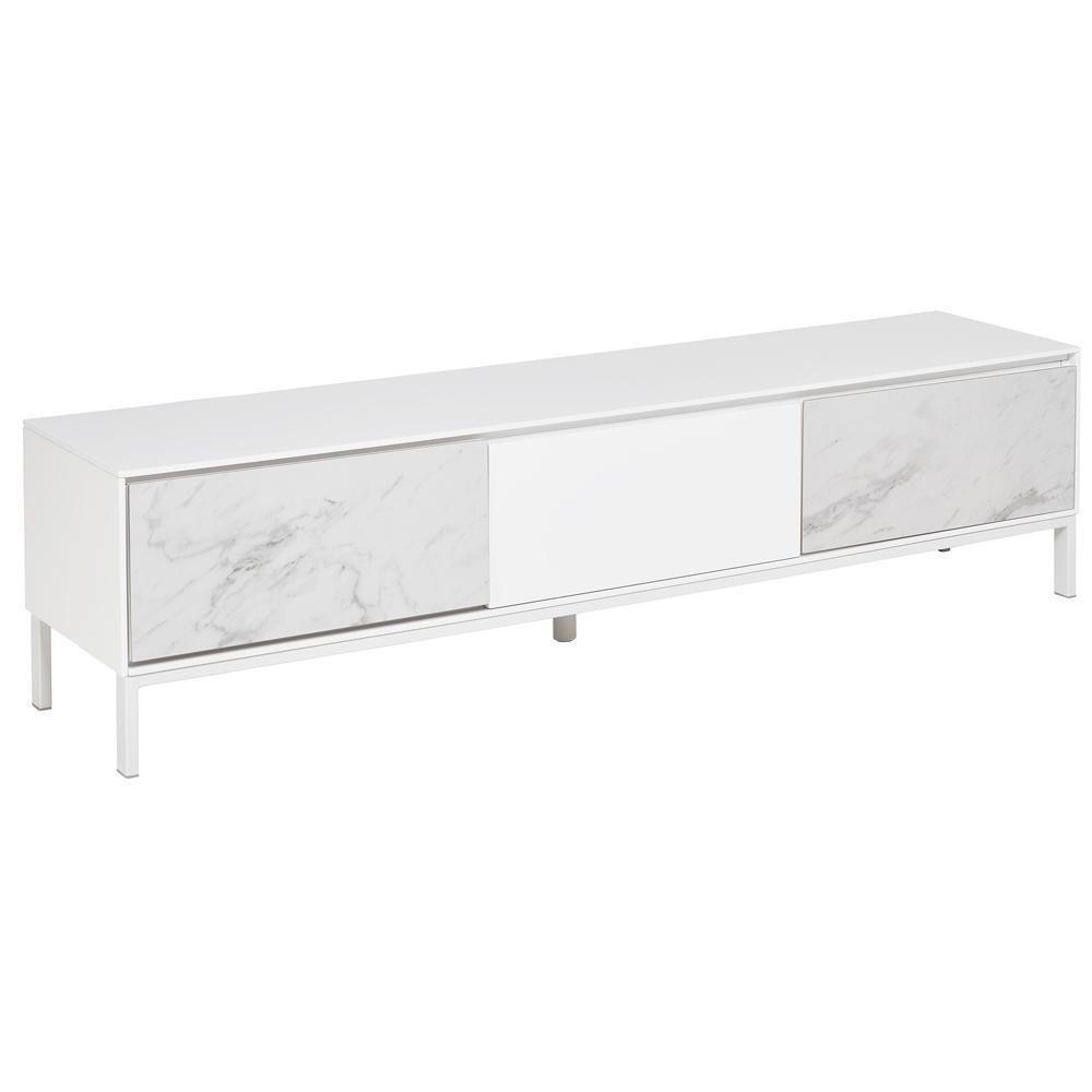 Avant TV unit white marble ceramic
