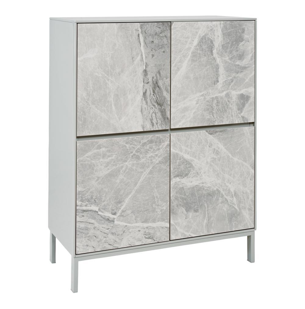 Avant cabinet light grey marble ceramic